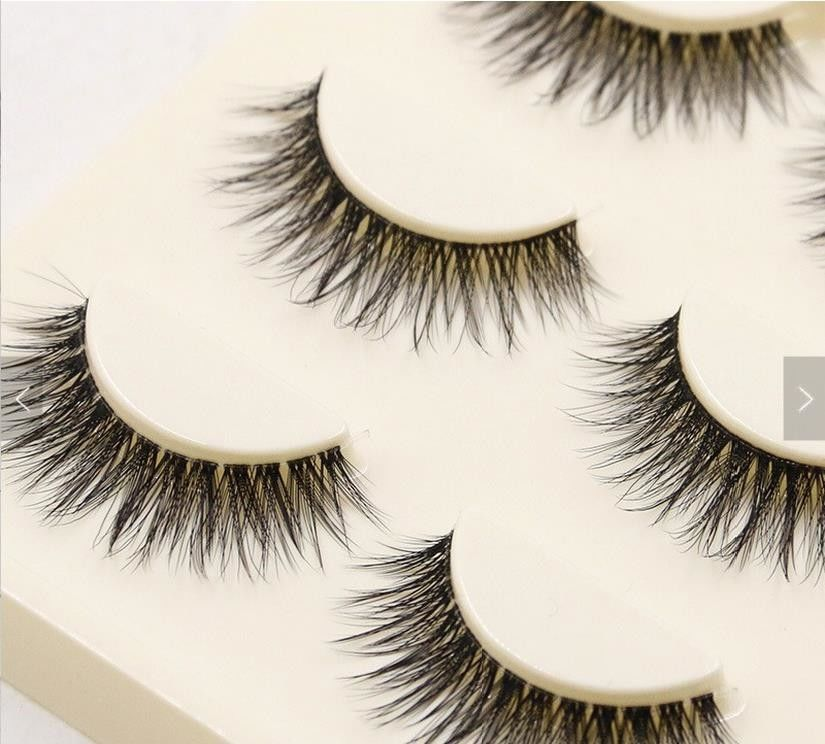 Custom Packaging False Strip Eyelashes Artificial 3d Fiber Lashes 100% Handmade